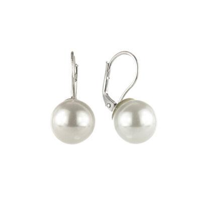 Orecchini a monachella con perla luminosa Pearl
