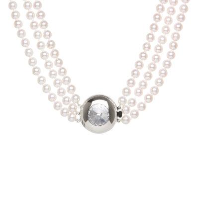 Collana a tre fili di perle Pearl