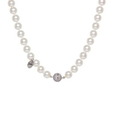 Collana di perle con sfera di zirconi Pearl