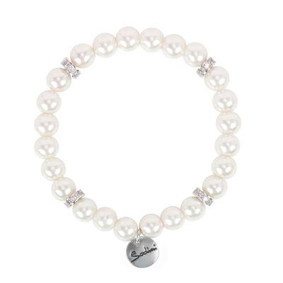 Bracciale elastico con perle e anellini Pearl