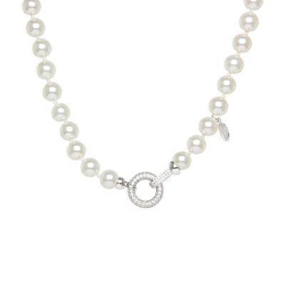 Girocollo di perle con anello prezioso Pearl