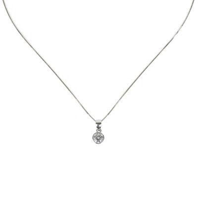 Collana con piccolo zircone Pearl
