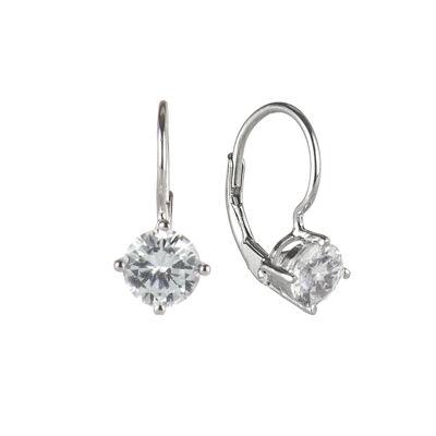 Piccoli orecchini con zircone Pearl