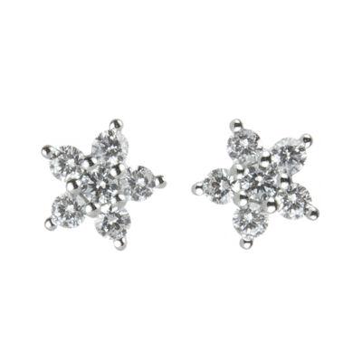 Orecchini stella di zirconi Pearl