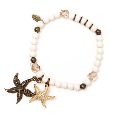 Bracciale elastico con stelline di mare Marea