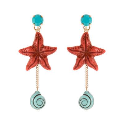 Orecchini stella e chiocciolina Marea