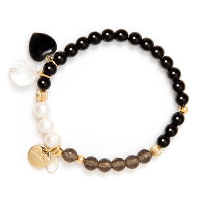 Bracciale elastico perle cromatiche Astrea