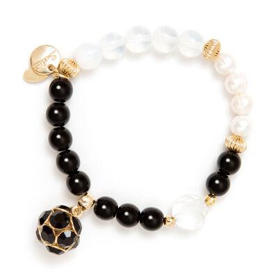 Bracciale elastico grandi perle cromatiche Astrea
