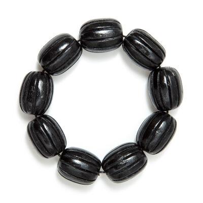 Bracciale elastico con perle di legno Masai