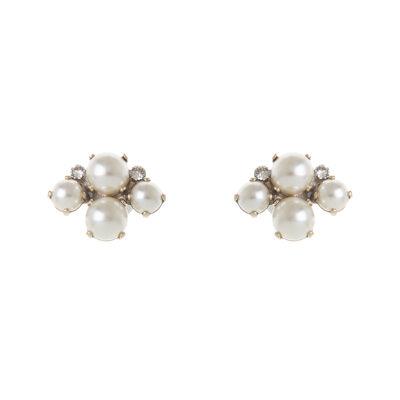 Orecchini con perle e strass Murano