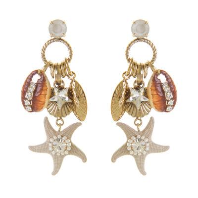 Orecchini con conchiglie e stella marina Maddalena