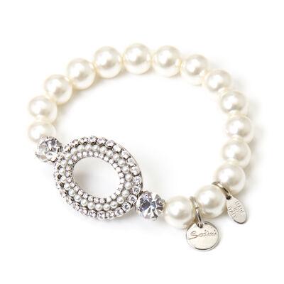 Bracciale elastico con charm ovale Margaretha