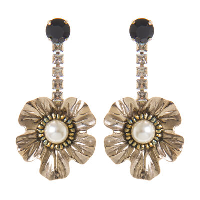 Orecchini brillanti con fiore Evita