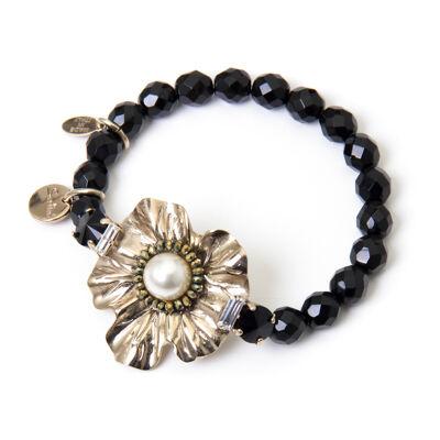 Bracciale elastico con fiore Evita