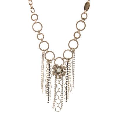 Collana con anelli e fiore Evita
