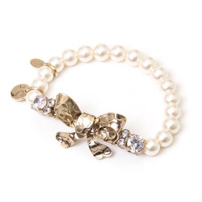 Bracciale elastico di perle Evita