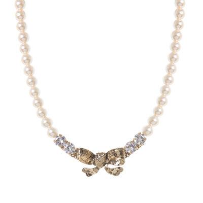 Collana di perle e fiocco Evita