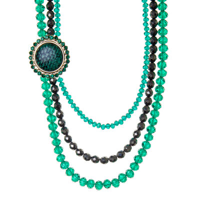Collana tre fili perline e charm Josephine