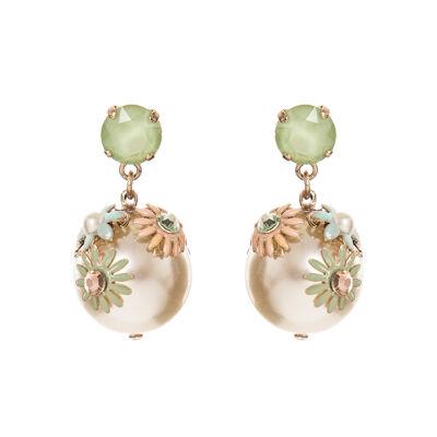 Orecchini con grande perla pendente Flora