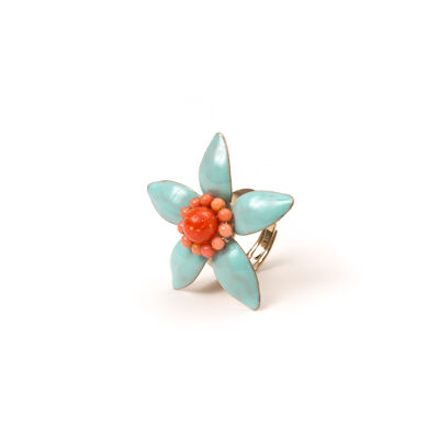 Anello con fiorellino Zenzero