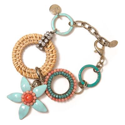 Bracciale cerchi e fiorellino Zenzero