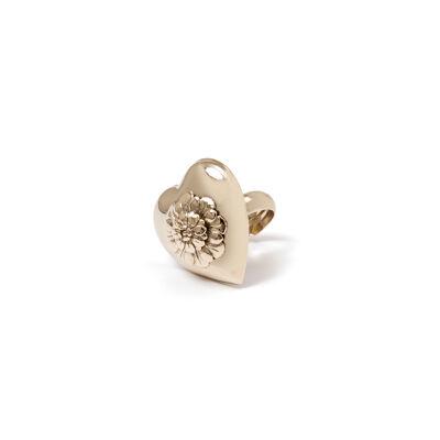 Anello cuore e fiore Artemide