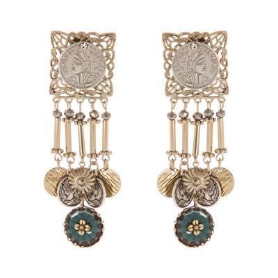 Orecchini chandelier Ermes