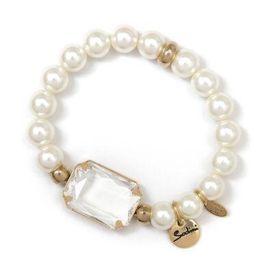 Bracciale elastico di perle Dafne