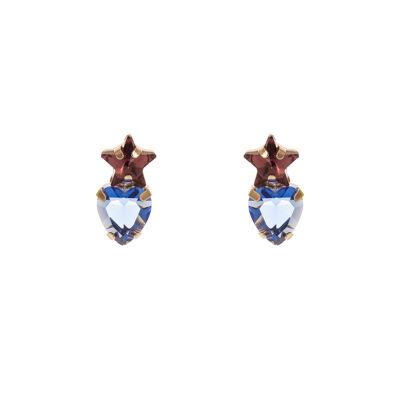 Piccoli orecchini stellina e cuore Dafne