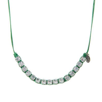 Collana di cordino e cristalli Carloforte