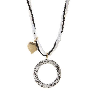 Collana di perline con cerchio e cuore Ustica