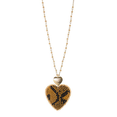 Collana con perline doppio cuore Ustica