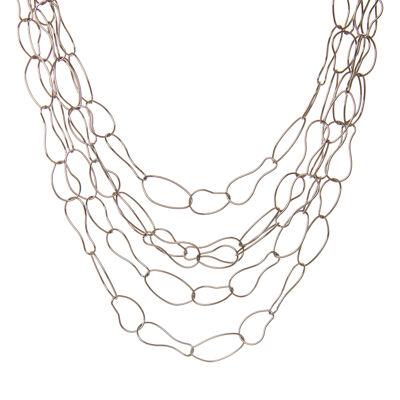 Girocollo multifilo di anelli asimmetrici Giglio