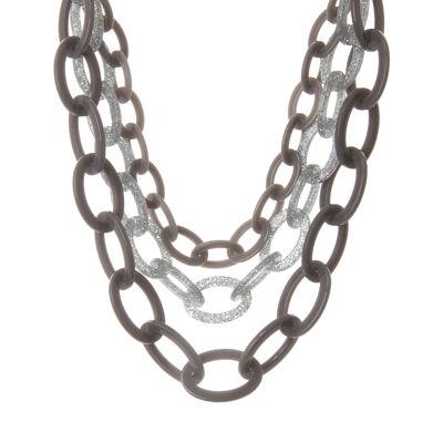 Collana multifilo ad anelli ovali Bright