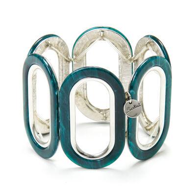 Bracciale elastico a grandi anelli ovali Lampedusa