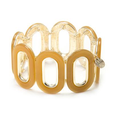 Bracciale elastico ad anelli ovali Lampedusa