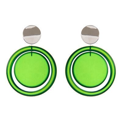 Orecchini con cerchio e disco pendente Ventotene