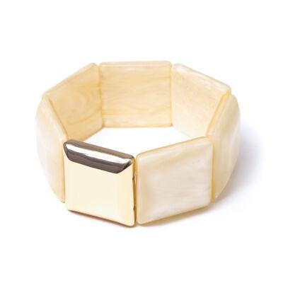 Bracciale elastico a placchette quadrate Savana