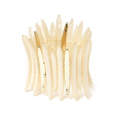 Bracciale elastico a striscioline Savana