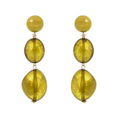Orecchini con pendente a due elementi Aura