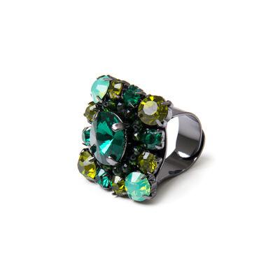 Anello di cristalli Rossella