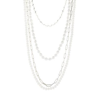 Collana multifilo con perle Afrodite