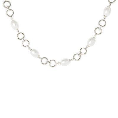 Collana anellini e perle Afrodite