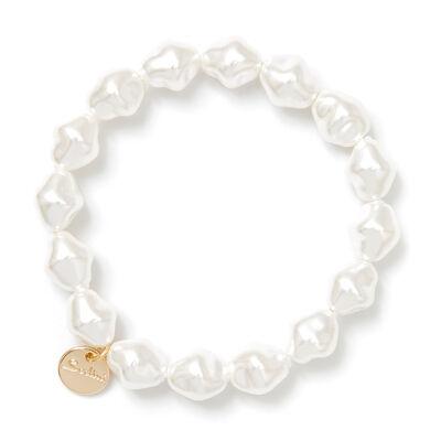 Bracciale elastico di perle geometriche Afrodite