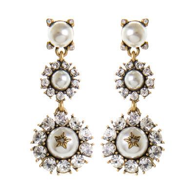 Orecchini perle e cristalli Elisabeth