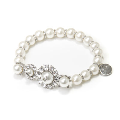 Bracciale elastico di perle Elisabeth