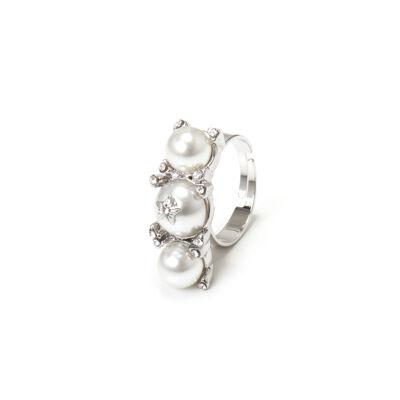 Anello a tre perle Elisabeth