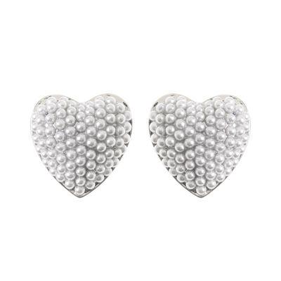 Orecchini cuore di perle Coco
