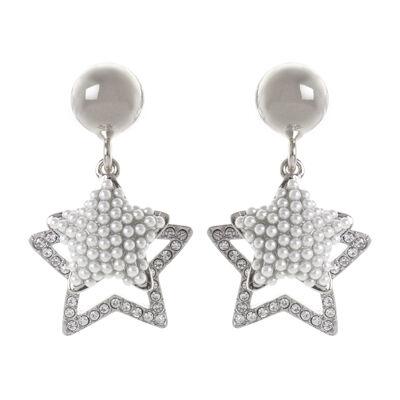 Orecchini a due stelle pendenti Coco