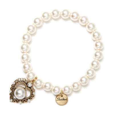 Bracciale elastico di perle Paradiso